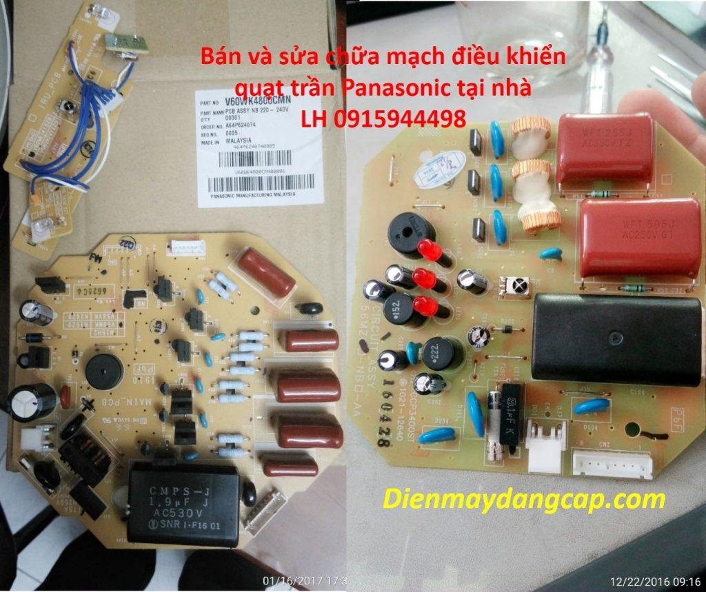 sửa mạch điều khiển quạt trần Panasonic