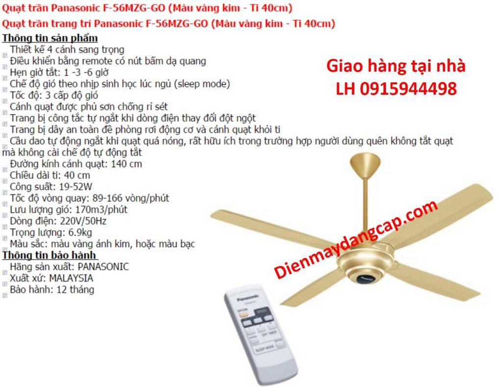 quat tran Panasonic F56MZG-GO
