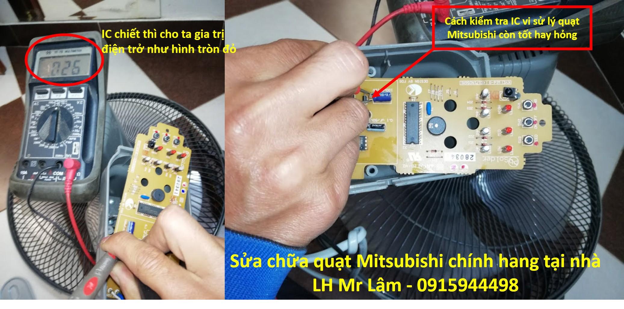Cách kiểm tra IC quạt Mitsubishi còn tốt hay hỏng