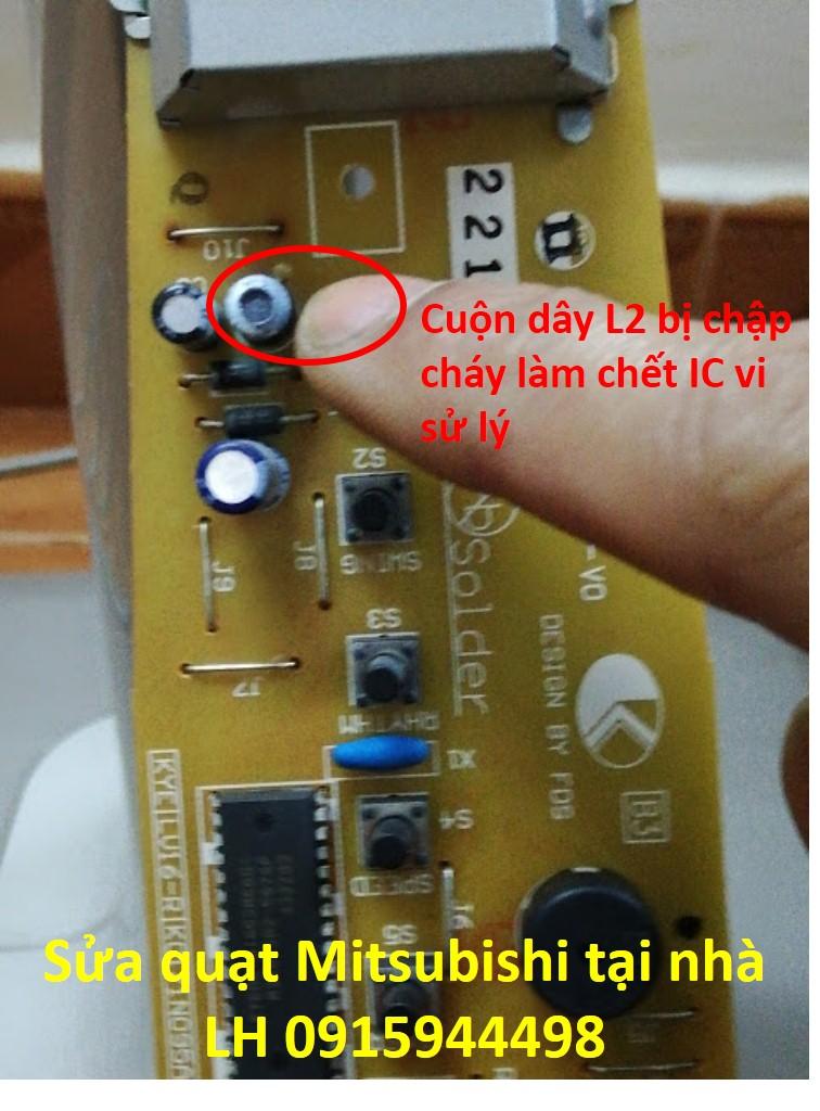 Cuộn dây L2 bị chập