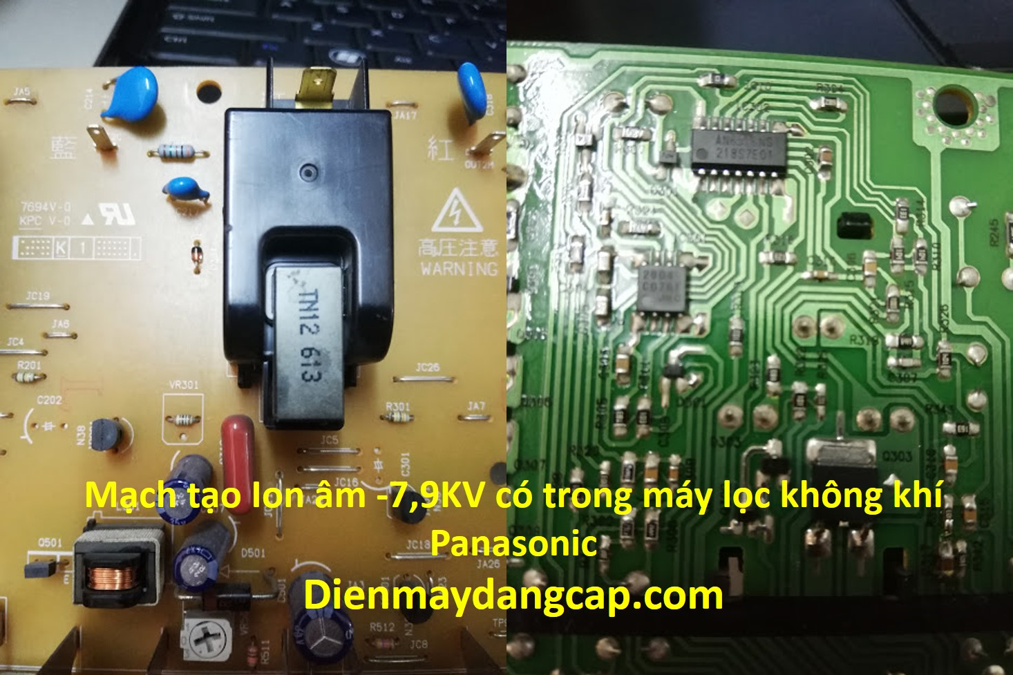 máy tạo ion âm Panasonic