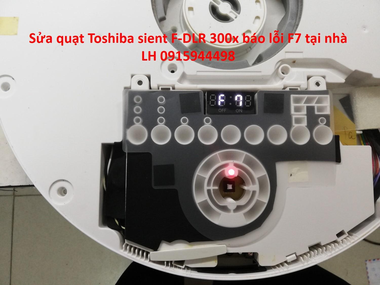Sửa quạt Toshiba nội địa nhật báo lỗi F7